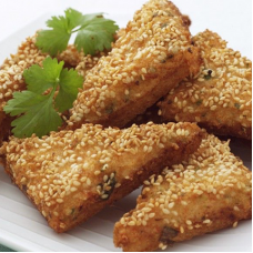 Chicken Toast with Sesame Seeds